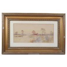 Frederick Gordon Fraser (1879-1931) Fen Artist Watercolour