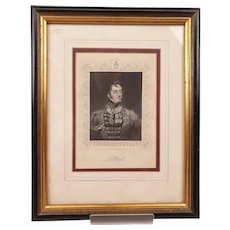 Early 19th Century Framed Print Of Major General Sir Charles William Doyle