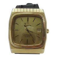 Late 1970s Omega Constellation Chronometer Gold Plated Quartz Gents Watch
