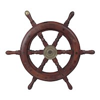 Vintage Yacht Small Ships Wheel