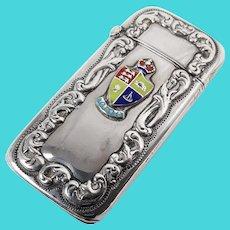 Silver Vesta Case with Enamel Toronto Badge
