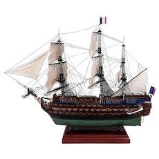 French Three Decker 1757 Ville De Paris Model Ship