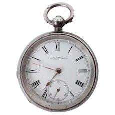 Sterling Silver A.W.W & Co. Waltham Pocket Watch c1898