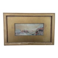 Alice Clementine Clarke (1872-1952) Watercolour of Portsmouth Harbour