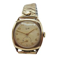 9ct Gold Aristo Gents Manual Wind Wrist Watch c1954