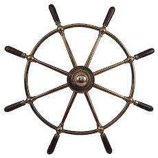 Brown Brothers & Co Ltd Of Rosebank Ironworks Edinburgh Bronze Ships Wheel