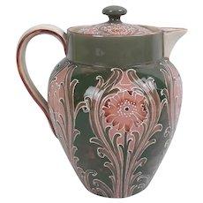 William Moorcroft Florian Ware Chocolate Pot