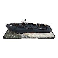 Scratch Built WW2 Higgins P.T. Waterline Model Boat
