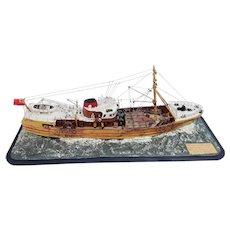 Scratch Built Waterline Model Boat of the Trawler 'Navena' FD172