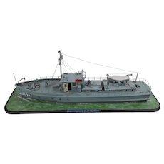 Scratch Built Waterline Model Boat of US Coastguard Cutter CG171 Circa 1925