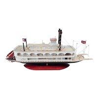 Scratch Built Static Model Of A Mississippi Paddle Steamer 'Marieville'