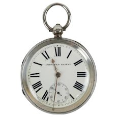 Victorian Chester 1898 Sterling Silver Open Faced Pocket Watch