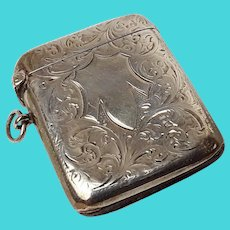 Birmingham 1906 Sterling Silver Vesta Case
