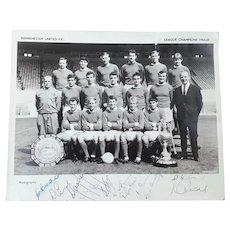 Manchester United F.C. League Champions 1964-65 Autographed Photo