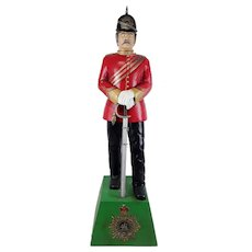 Hand Carved Statue Of A Victorian British Officer - The Buffs