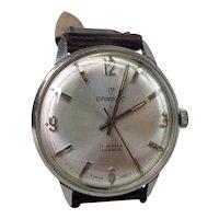 Gents Stainless Steel Swiss Ermano 17 Jewel Wristwatch