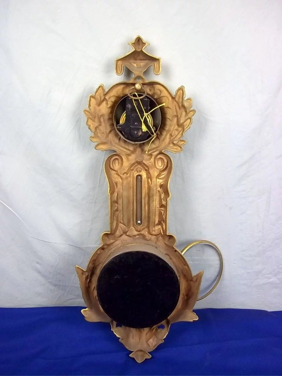 Victorian Gilt Cast Iron 8 Day Striking Wall The