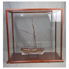 Cased Model of HMS Sherbourne 8 Gun Royal Navy Cutter 1763 1:64 Scale
