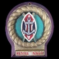 A cast aluminium badge For The Kenya Navy