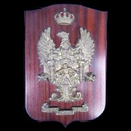 A Heavy Cast Brass Badge For The Spanish Cadiz Millitary Corps