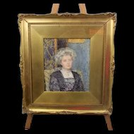 Portrait Of An Edwardian Lady By Lionel Percy Smythe, RA RWS RI ROI