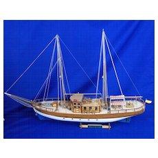 Trotamares (1958) Sailing Cruiser Plank On Frame Scale Model
