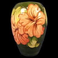 A Moorcroft Ovoid Vase in the Hibiscus Pattern 1947-53