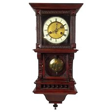 c1900 German Cased Wall Clock