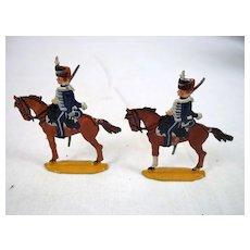 Circa 1900 M F Ltd. Loth Hussars 1815. Vintage Tin/Lead Flat Soldiers