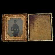 c1860-65 American Civil War NCO Case Framed Photograph