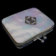 Victorian Mother of Pearl Mini Purse