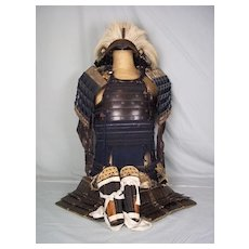 Circa 1750 Edo Period Japanese Samurai Armour