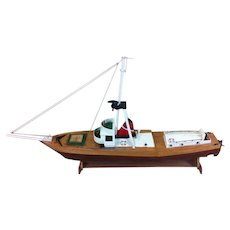 Wooden Model Of A Sailboat