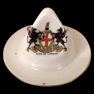 Carlton China Crested China, Colonial Hat - Crest Of London