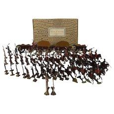 "Vintage Tin Flat ""Battle of Vittoria"", Tinplate 72 Piece Soldiers"