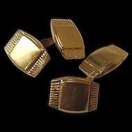Vintage 18 Ct Gold Cufflinks, 7g, Hallmarked