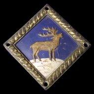 Bronze Ship's Boat Badge For HMS Challenger Survey Ship (1932)