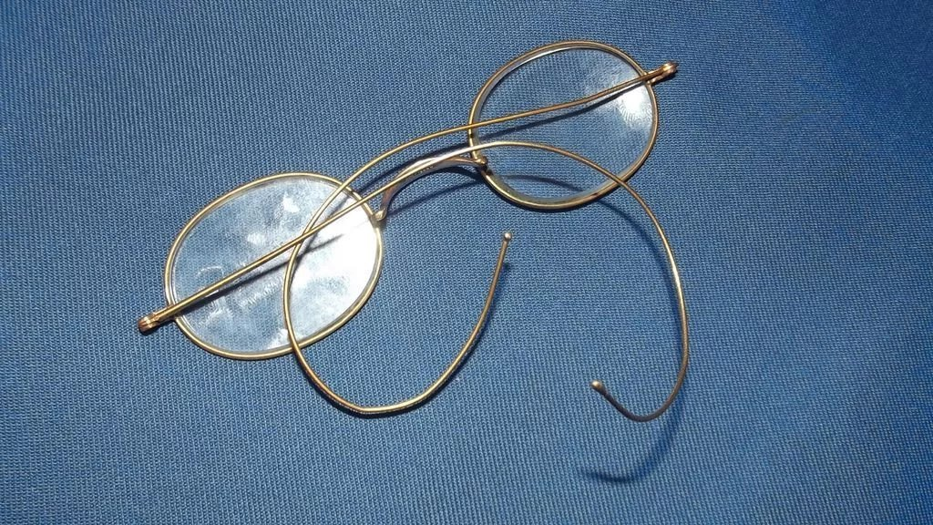Circa 1900 Filled Gold Frame Spectacles With Original Case Southsea ...