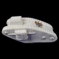 Large Arcadian Crested China Model Of A WW1 Tank, Southport