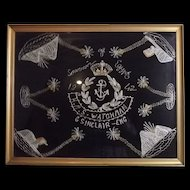 Egyptian Chain Stitched Picture From WW II - 1942 - HMS Watchman