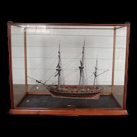 Fine Cased Model Of The 1797 Sloop HMS Snake