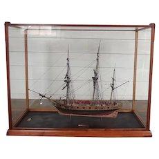 Fine Cased Model Of The 1797 Sloop HMS Snake