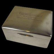 Silver Cigarette Box By Walker & Hall - Sheffield 1951, 420 g