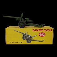 """Dinky Toys 692 5.5"""" Medium Gun #1"""