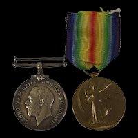 British War & Victory Medal Pair PTE W. Parfitt West Yorkshire Regiment