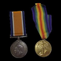 WW1 Medal Pair - Pte. J.E. Adams - Royal Warwickshire Regiment