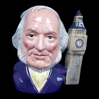Royal Doulton Small Character Jug Of John Doulton With Big Ben by Eric Griffiths
