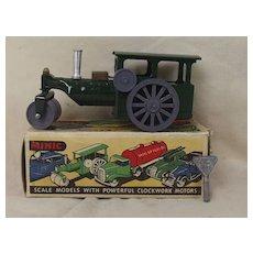 Boxed Triang Minic Post War Tinplate Clockwork Steam Roller