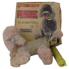 c1950 Alps Princess The Begging Poodle Battery Powered Dog