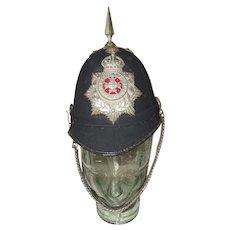 Edwardian Sherwood Foresters 2nd Volunteer Battalion O/R Spiked Helmet